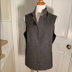 NWT Lafayette heavy & soft melange wool long vest.